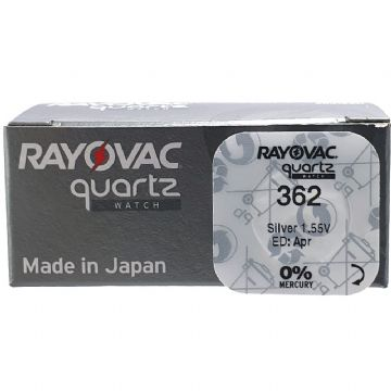 Rayovac 362 SR721SW 1.5V Silver Oxide Watch Battery